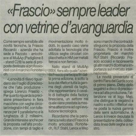 """Frascio"" sempre leader con vetrine d'avanguardia"