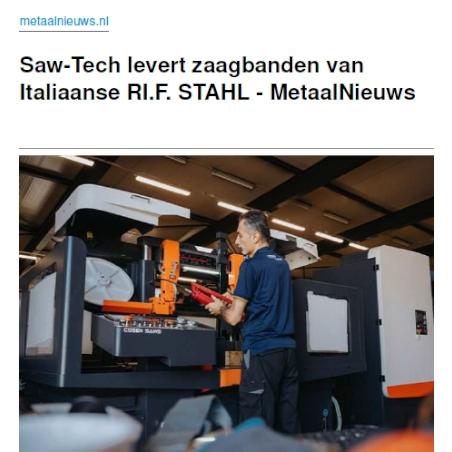 Saw-Tech levert zaagbanden van Italiaanse RI.F.STAHL